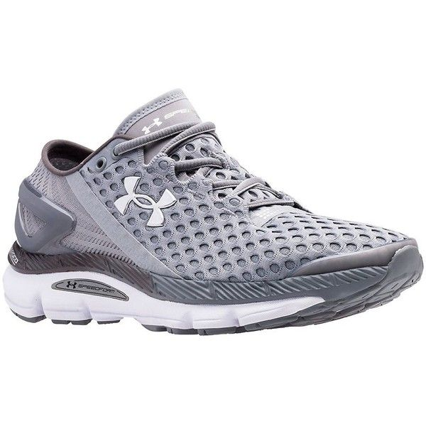 Under Armour SpeedForm Gemini 2 Running Shoes ($130) ❤ liked on Polyvore featuring shoes, athletic shoes, light grey, cushioned shoes, lace up shoes, cushioned running shoes, breathable mesh shoes and mesh shoes