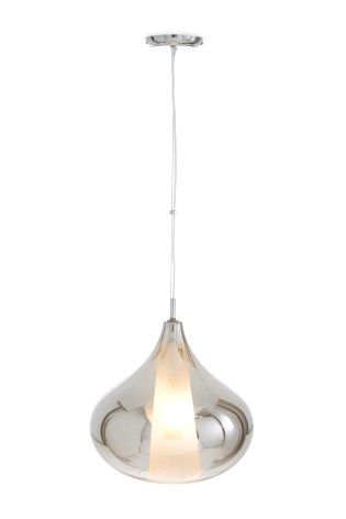 Buy Ombre Effect Smoke Plated Glass Pendant And Inner Frosted Glass from the Next UK online shop