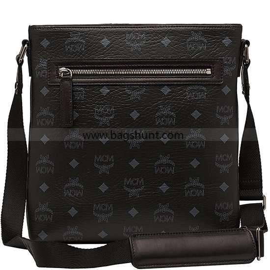 MCM 13AW Munich Lion Messenger Bag Black 2016 Outlet