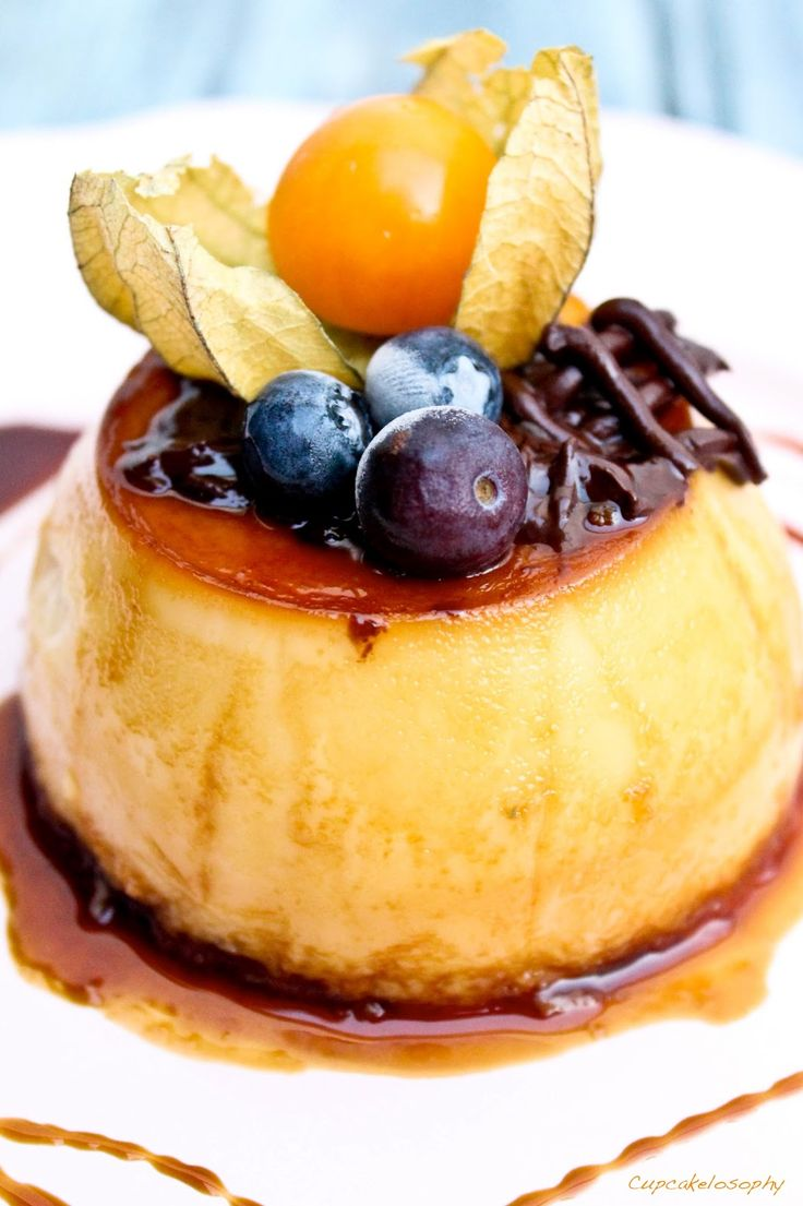 Flan de Mascarpone. The recipe for this rich dessert is originally in Spanish, so you'll need to use a translator.