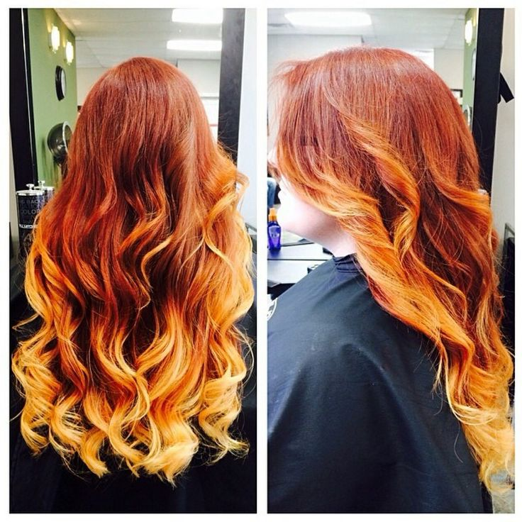 Beautiful Red And Copper Ombre Hairstyles I Heart
