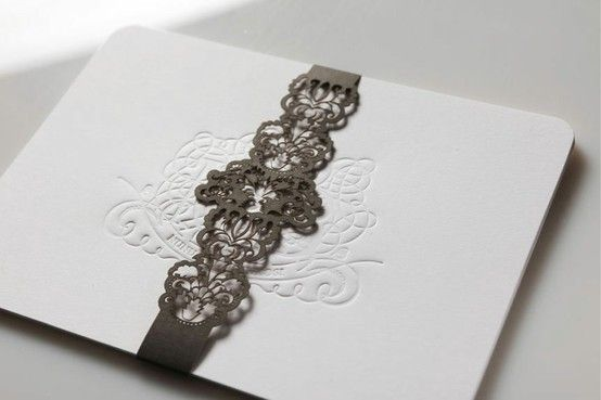 Add a touch of tactile luxury and have your monogram or initials blind debossed into your invitations. By http://www.secretdiary.co.za