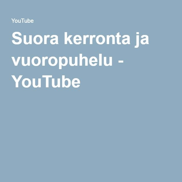 Suora kerronta ja vuoropuhelu - YouTube