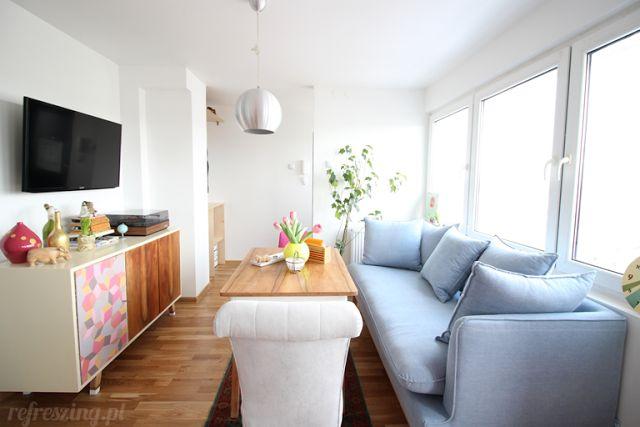 Home Refreszing. Mieszkanie po remoncie. Odcinek drugi - salon.