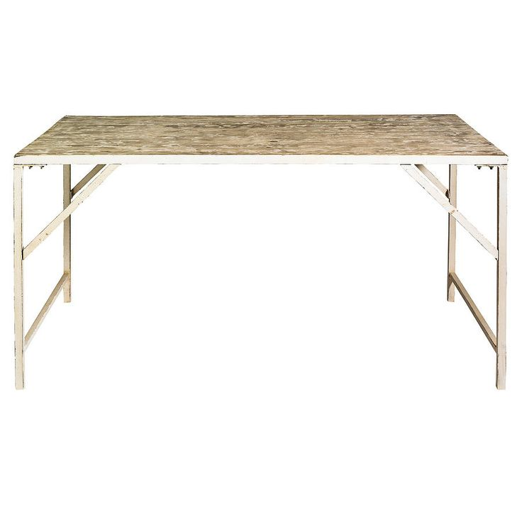 warehouse table with metal legs by nordal by idea home co   notonthehighstreet.com