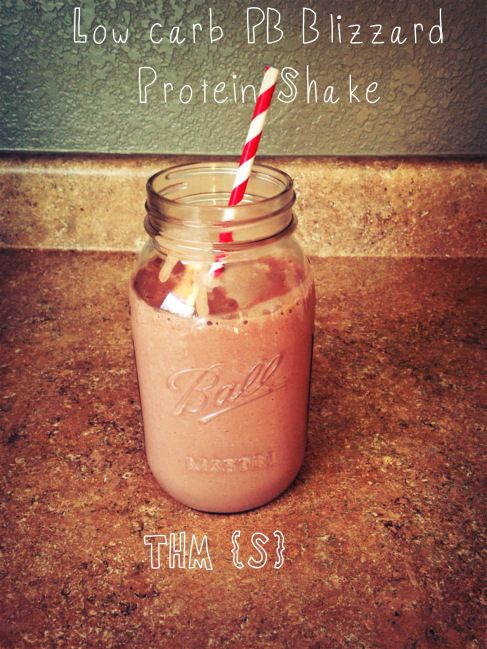 Low-Carb Sugar-Free Peanut Butter Blizzard Protein Shake from workingathomeschool.com