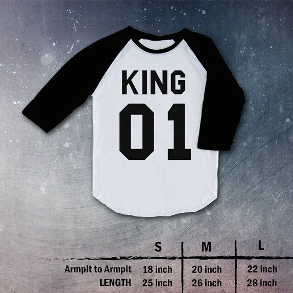 king 01 queen 01 Shirt t-shirt tee clothing couple love Top Raglan christmas gift present