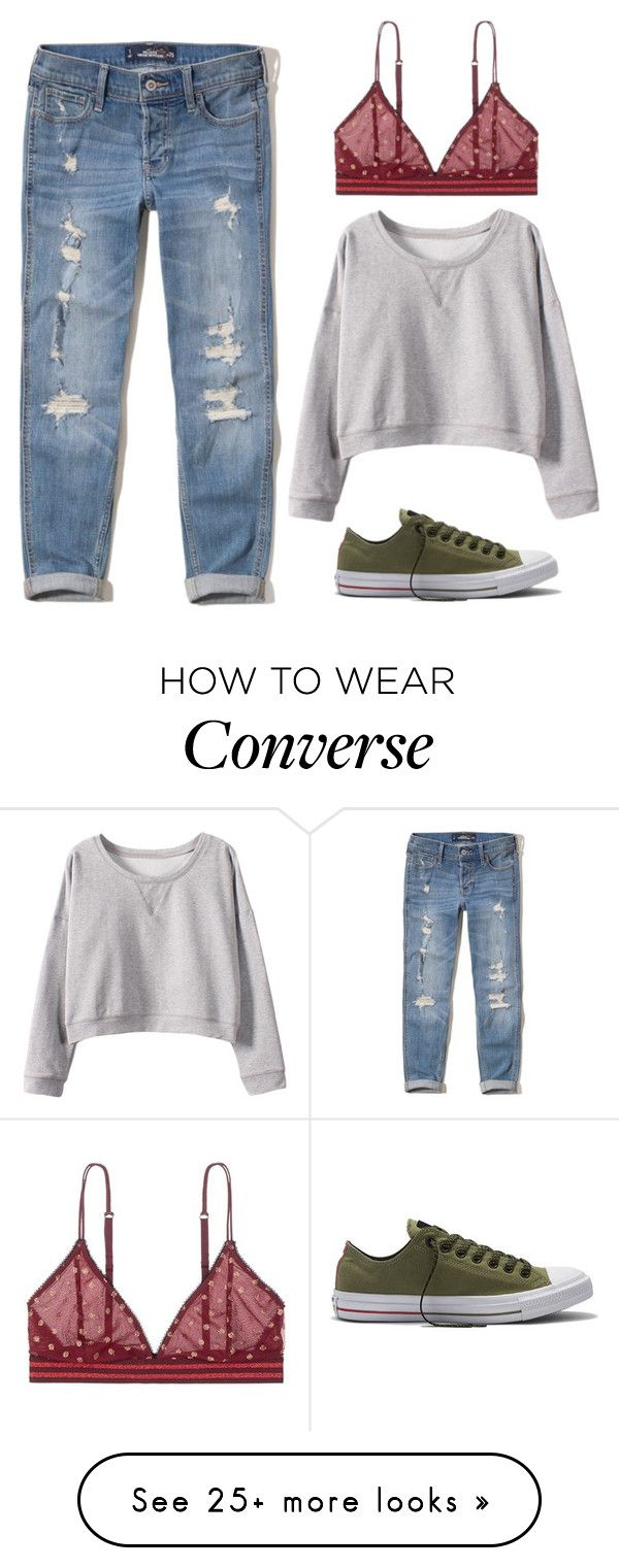 """""""Lazy Weekend"""" by sailorjerri on Polyvore featuring Hollister Co., Converse and LoveStories"""