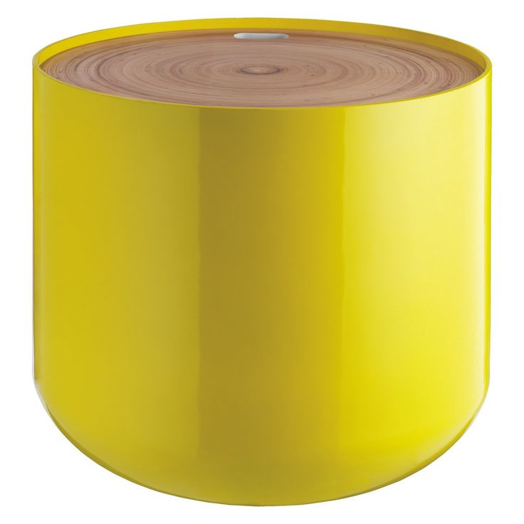 BLYTH Yellow storage side table
