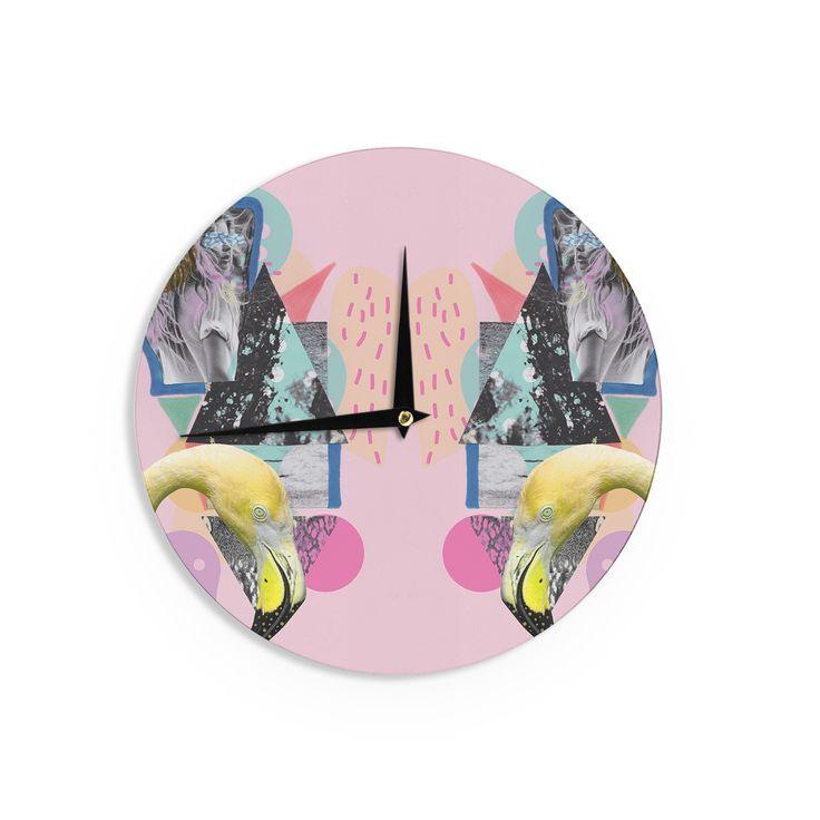 "Vasare Nar ""Flamingo Tropical"" Wall Clock"