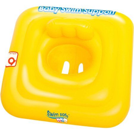 Bestway - Swim Safe 27 Inch x 27 Inch Step A Baby Support, Yellow
