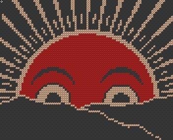 Mod Sunrise Cross Stitch Pattern PDF Digital by nichestitch, $6.99