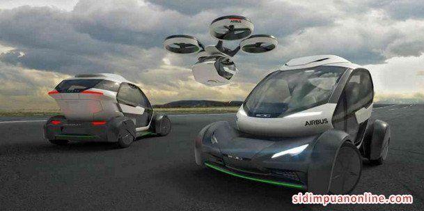 Geneva Motor Show, Airbus dirancang dari desain modular mobil konsep - Pop.Up System - dikembangkan bekerja sama dengan Italdesign. - Konsep Mobil Terbang