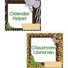 Classroom Jobs in a Jungle theme...