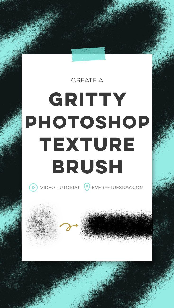 Create a Gritty Photoshop Texture Brush, perfect for beginners! | video tutorial: https://every-tuesday.com via @teelac