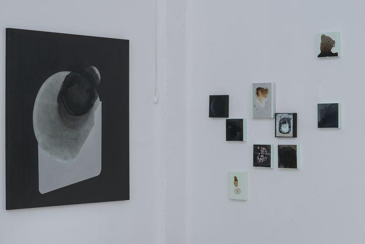 Olga Mokrzycka-Grospierre, od lewej: Klocki, 2015; Krzak 4, 2015; Krzak 1, 2015; Obwarzanek, 2015; Wypłyniętość, 2013; Wylaność, 2014; Wklęsłość, 2015; Krzak 3, 2015; Krzak 6, 2015; Krzak 2, 2015, fot. Wojciech Pacewicz