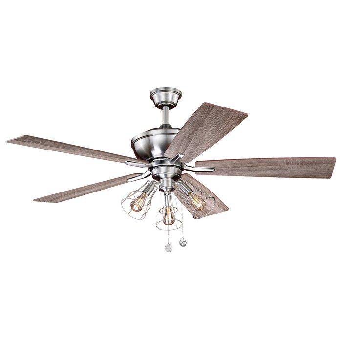 52 Clybourn 5 Blade Ceiling Fan Light Kit Included In 2020 Fan Light Ceiling Fan Ceiling Fan With Light