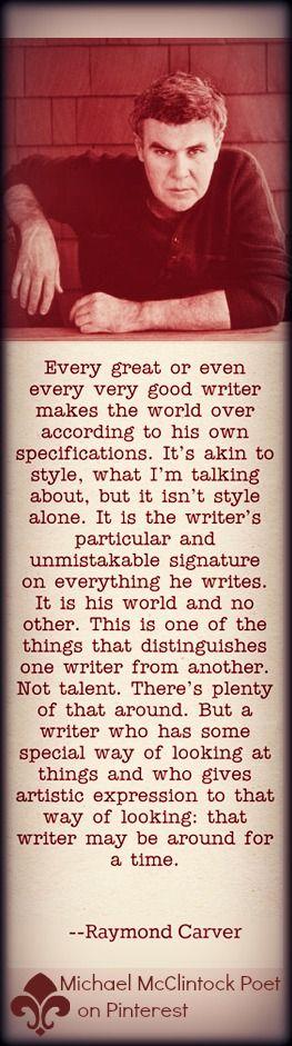 raymond carver essays on writing