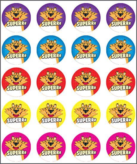 Tiger Super Sticker. Teacher sticker pack. Contains 100 sticker. Merit award.