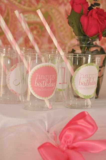 """""""Sometimes, something as simple as a sticker, can make all the difference... on a clear cup..."""" - toostinkincute.blogspot.com"""
