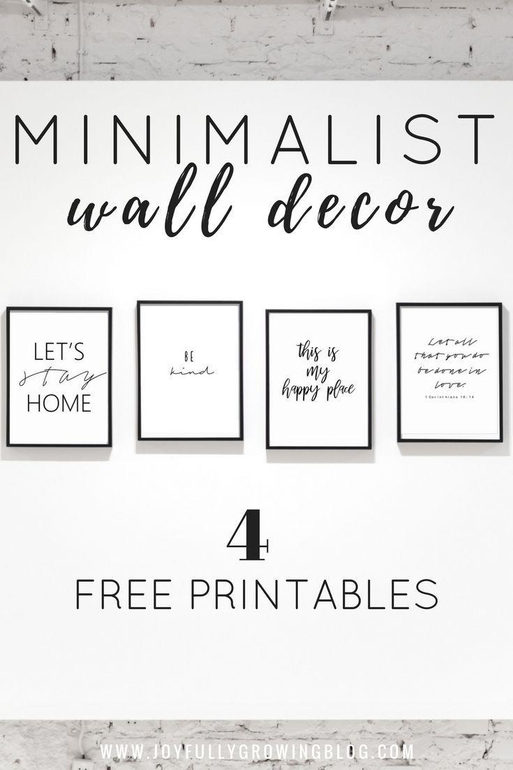 Printable Wall Decor Black White Minimalist Decor Ideas Joyfully Growing Blog Freewalldeco Wall Printables Wall Decor Printables Minimalist Wall Decor
