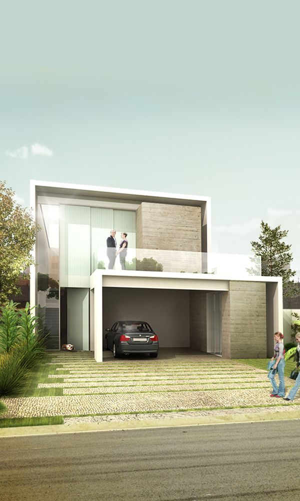 Projeto de Casa - Swiss Park - Arosa - Fachada | 24.7 Arquitetura Design