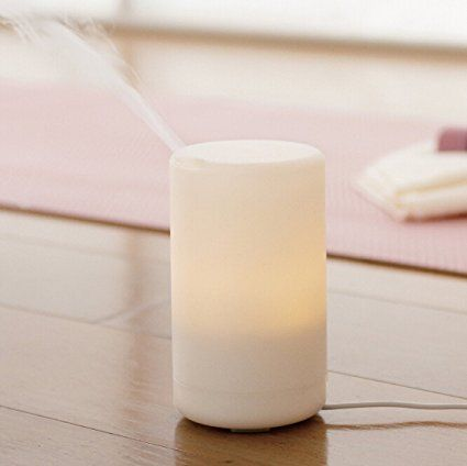 2017 USB Aroma Essential Oil Diffuser - White Colour LED Light , Waterless Auto Shut-off, Portable Ultrasonic Humidifier, Adjustable Timer Cool Mist, for Travel Car Home Office Baby Bedroom (U1 85ml)