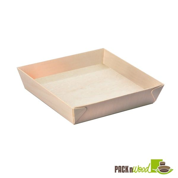 Square Samurai - Wooden Tray - 6.6 x 1.41 in. - 100 pcs/case