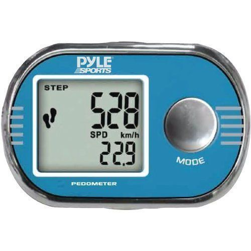 Pyle Blue Pedometer Step Timer Distance Speed Stopwatch Clock Free US Shipping #Pyle