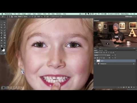 Как удалить красные глаза и добавить зуб с помощью Photoshop – ФотоКто