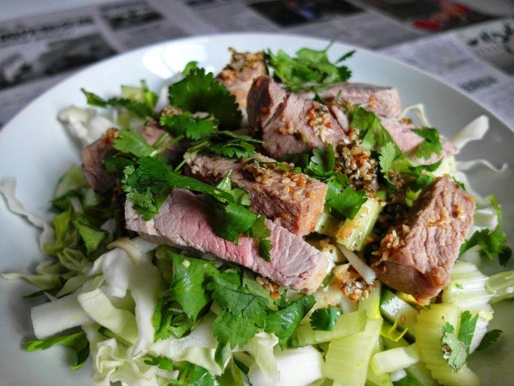 Aneta Goes Yummi: Vietnamský zeleninový šalát s bravčovou panenkou