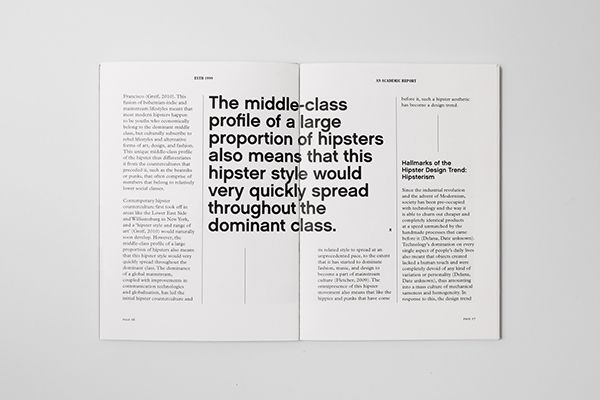 Estd 1999: An Academic Report on Behance