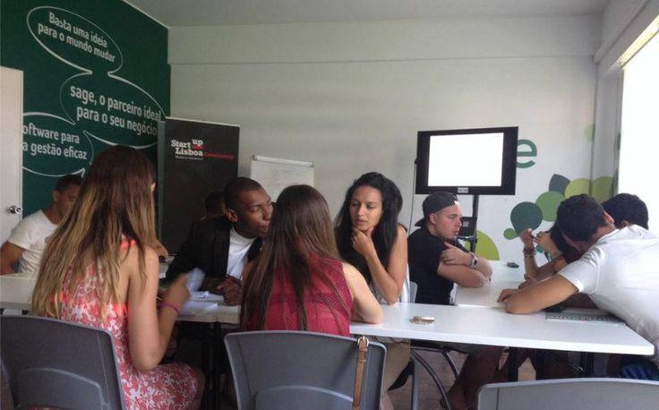 A meeting room at Startup Lisboa.