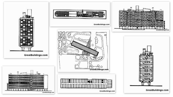 59 best images about le corbusier l 39 unite d 39 habitation for Plan habitation