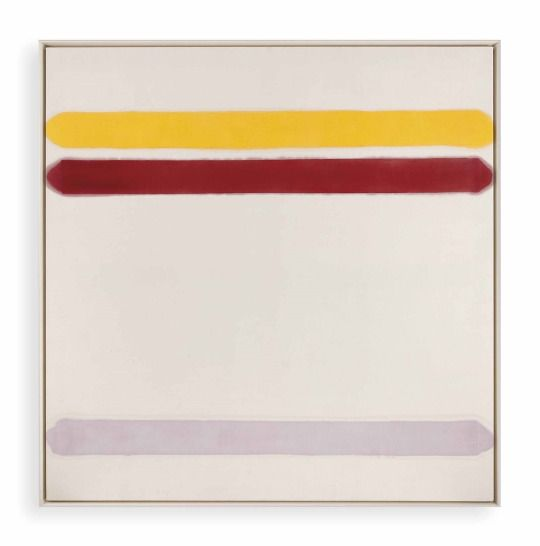 Kenneth Noland - Overtones , acrylic on canvas, 173 x 170.5 cm. Painted in 1961.
