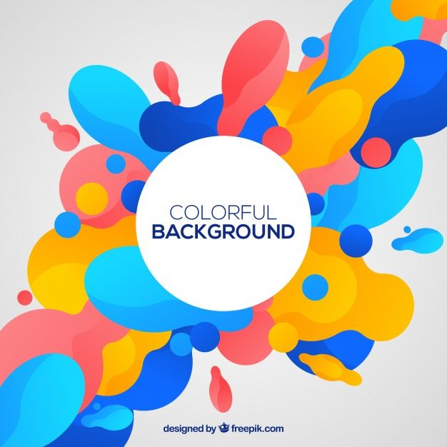 Download Colorful Background With Abstract Shapes For Free
