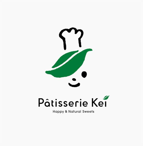Pattiserie Kei by masaomi fujita, via Behance,super cute chef logo with a toque