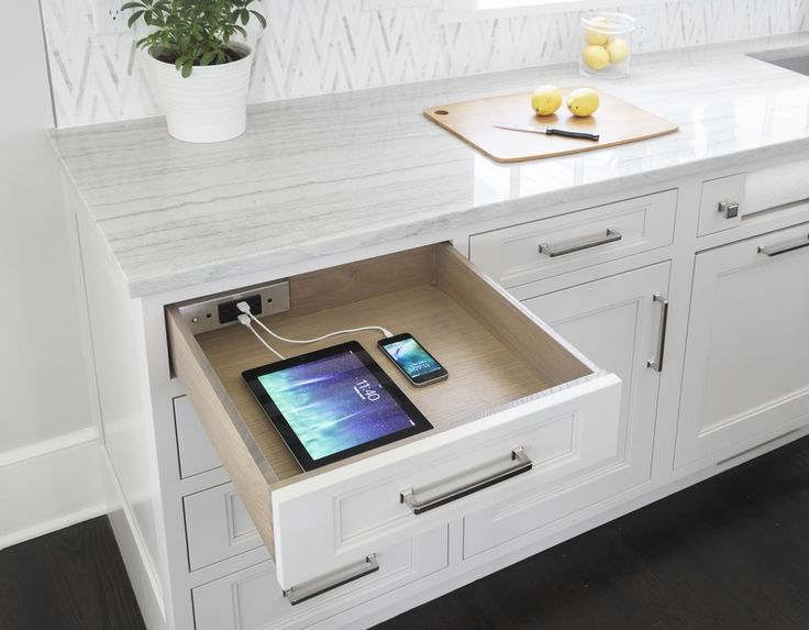 Attrayant Get Ideas For Your In Drawer Charging Stations And Electrical Outlets To  Help Organize Your Kitchen, Bathroom, Closets, Work Space And More.