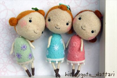 Wool dolls