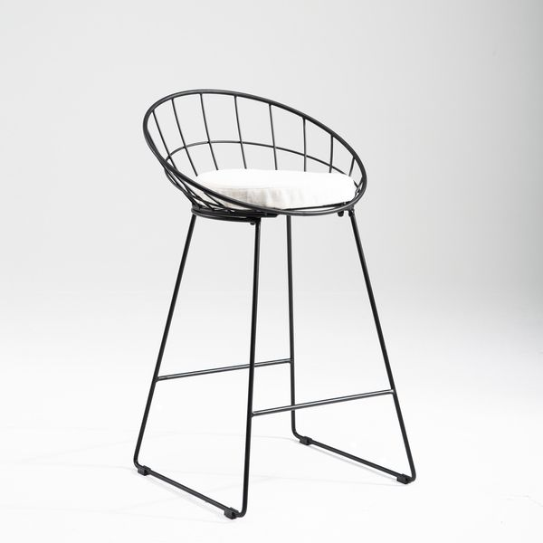 The Nordic Kylie Bar Stool Is Perfect For The Modern And Contemporary Interior The Mesh Back And Washable Cushion Bar Stools Wire Bar Stools Metal Bar Stools