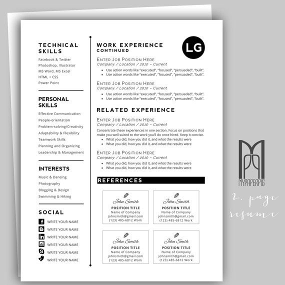 15 best Modern \ Creative RESUME TEMPLATES -- (CUSTOM NAME HEADER - resume action phrases