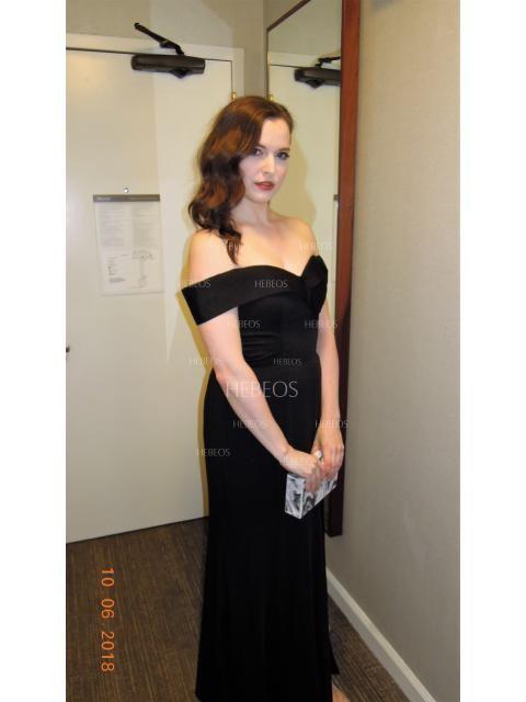 589184530348 Sheath/Column Off-the-Shoulder Floor-Length Ruffles Satin Dresses - Prom  Dresses - Hebeos Online