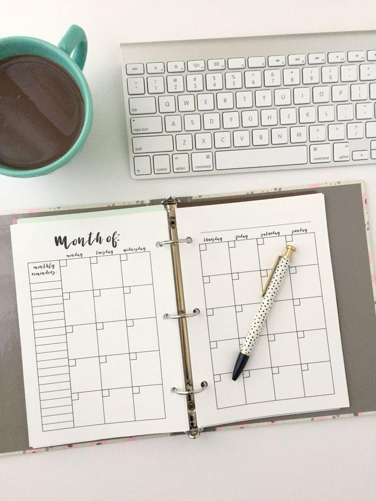 Calendar Planner Ideas : Best ideas about monthly calendars on pinterest