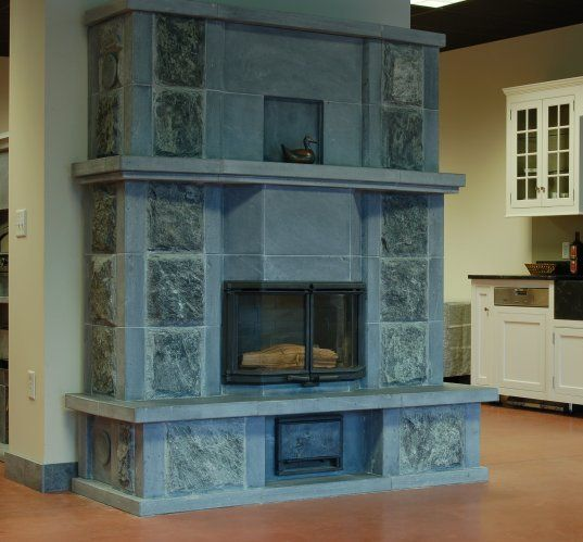 tulikivi soapstone fireplaces | ... - Custom Tulikivi Soapstone Fireplace - Mid-Atlantic Masonry Heat