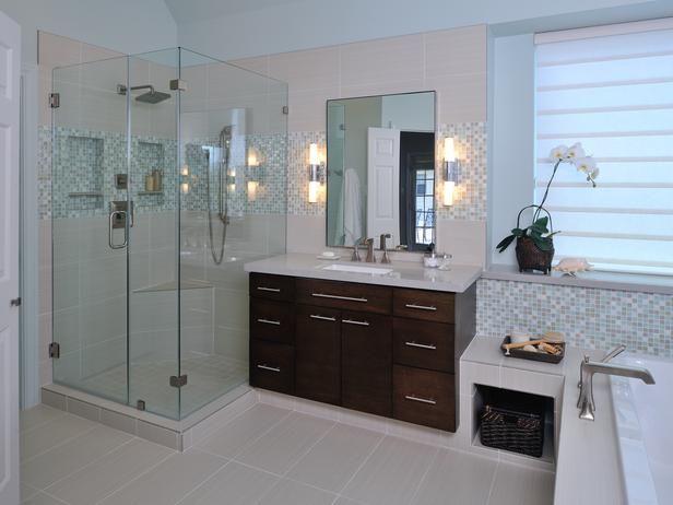 Spacious, Contemporary Bathroom Remodel : Rooms : Home & Garden Television