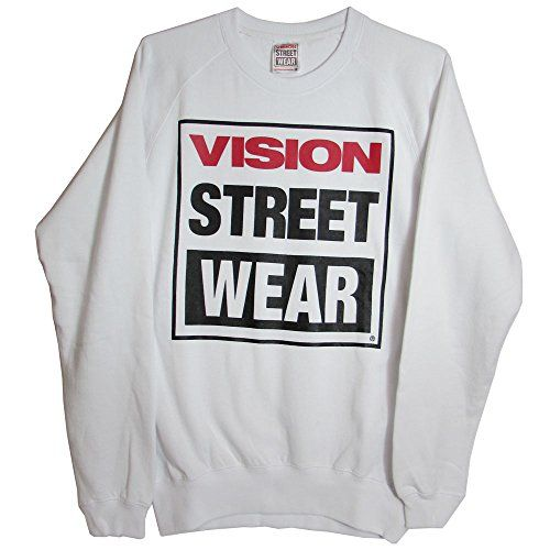 "Vision Street Wear Men's Fleece   Vision Street Wear Men's Fleece  Brand: Vision Street Wear.  Style Name: Logo Fleece Crew.  Style Number: VMF3HBL.  Materials: 60% Polyester, 40% Cotton.  Pull Over Crew Sweatshirt Style.  ""VISION STREET WEAR"" Logo Printed On Front.  Machine wash cold.  Do not bleach. Tumble dry low.  Do not dry clean.  Shoulder to Shoulder: Approximately 19"". Underarm to Underarm: Approximately 21"". Sleeve Length: Approximately 26"".  Front Length: Approximately 24.5.."