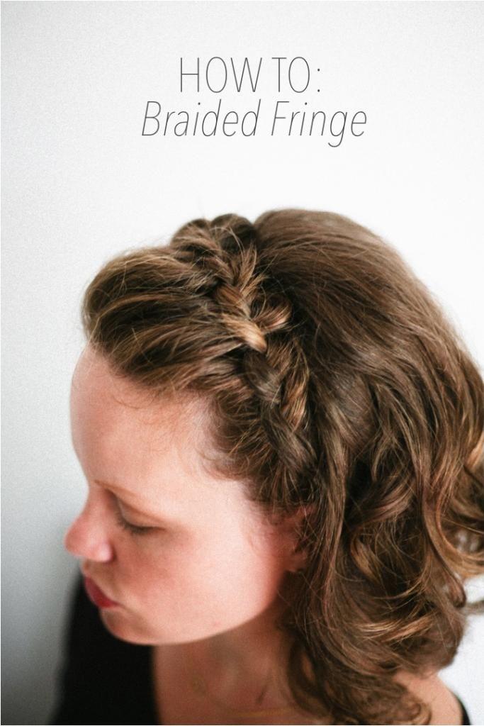 How to: Braided Fringe for short haired girls