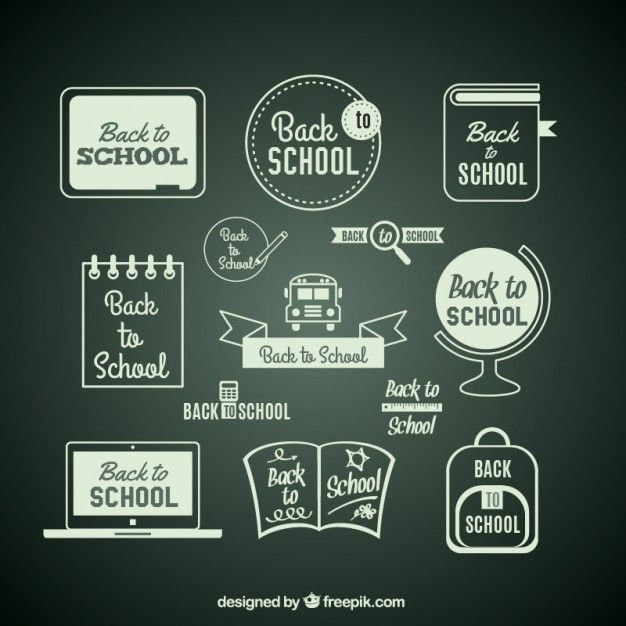Free vector Back to school items on blackboard #15725