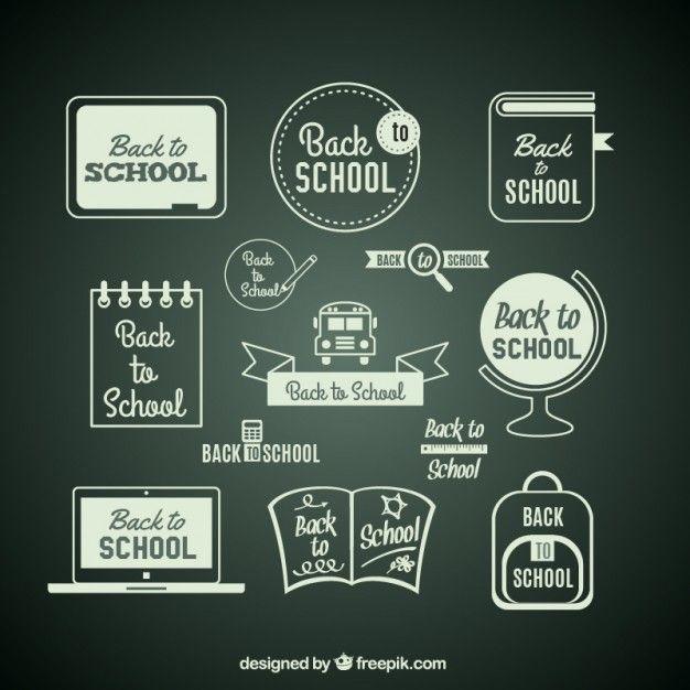 Free vector Back to school items on blackboard #15725