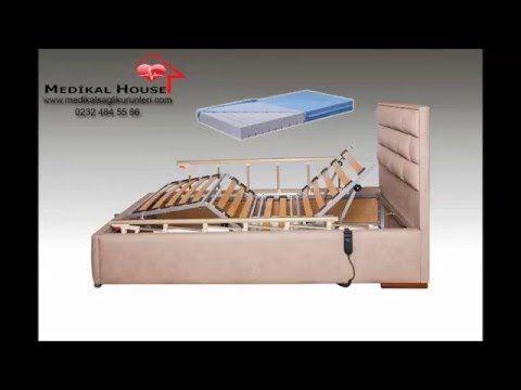 Petek Ev Tipi Elektrikli Kumandalı 2 Motorlu Hasta Karyolası - Ortopedik Hasta Yatağı - Medikal House